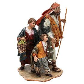 Nativity scene shepherd and childern, 13 cm by Angela Tripi s3