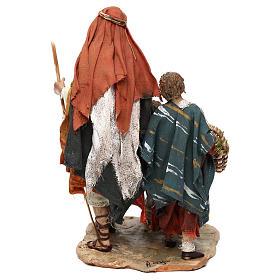 Nativity scene shepherd and childern, 13 cm by Angela Tripi s4