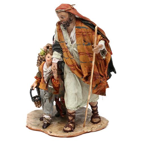 Nativity scene shepherd and childern, 13 cm by Angela Tripi 2