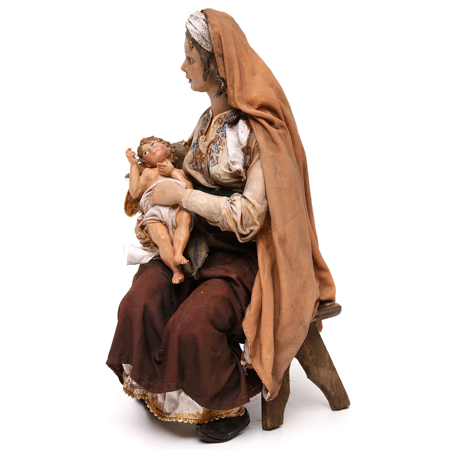 Nativity scene Mary with Jesus, 30 cm by Angela Tripi 4