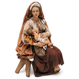 Nativity scene Mary with Jesus, 30 cm by Angela Tripi s1