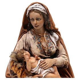 Nativity scene Mary with Jesus, 30 cm by Angela Tripi s2