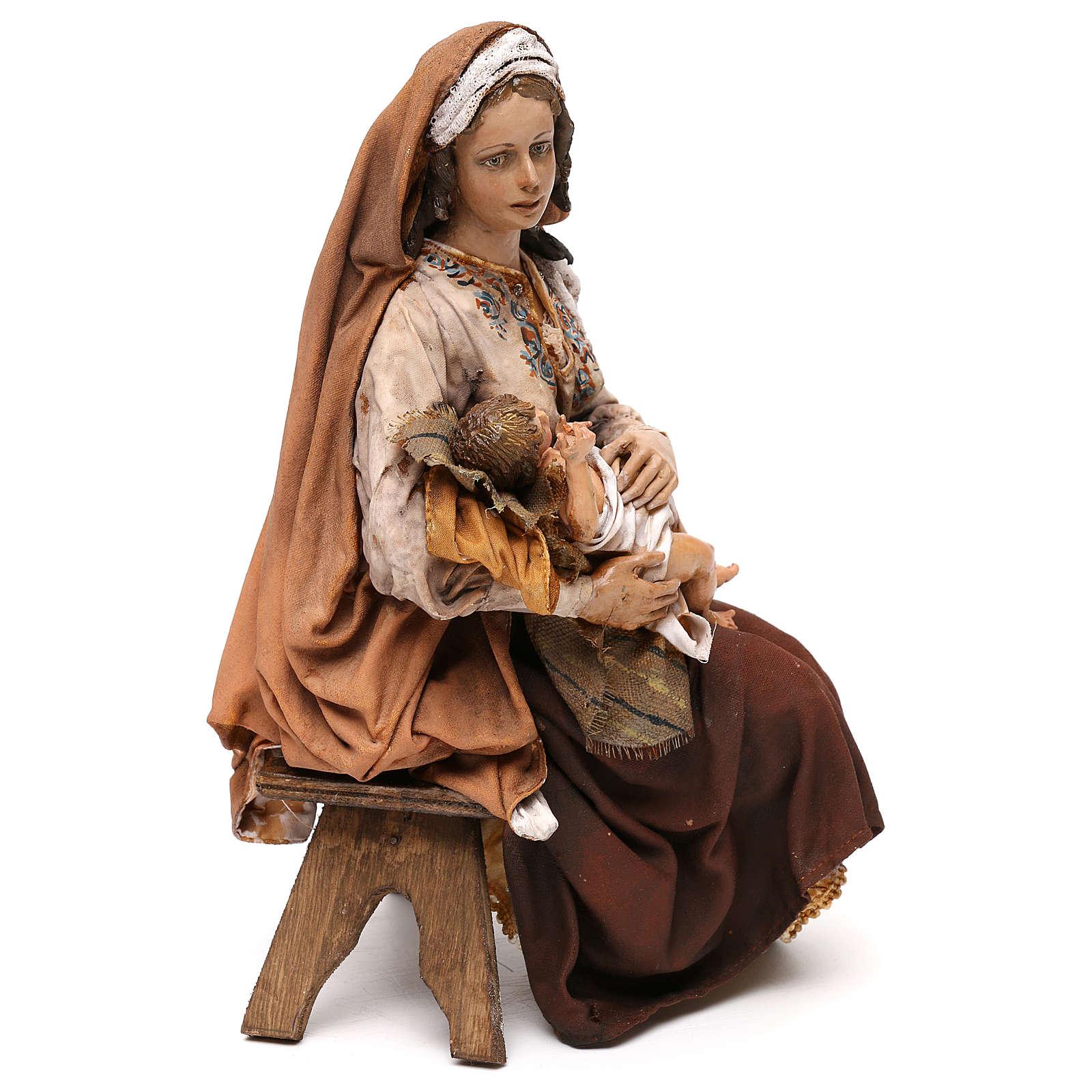 Maria con Gesù Bambino 30 cm Tripi 4