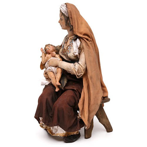 Maria con Gesù Bambino 30 cm Tripi 3