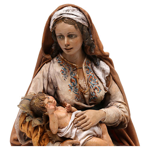 Mary with Baby Jesus sitting, 30 cm Tripi 2