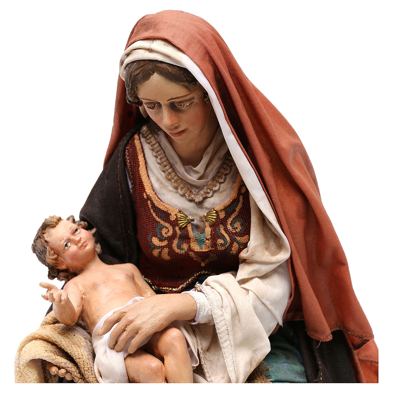 Nativity scene Mary with Baby Jesus, 30 cm by Angela Tripi 4