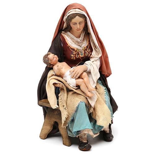 Nativity scene Mary with Baby Jesus, 30 cm by Angela Tripi 1