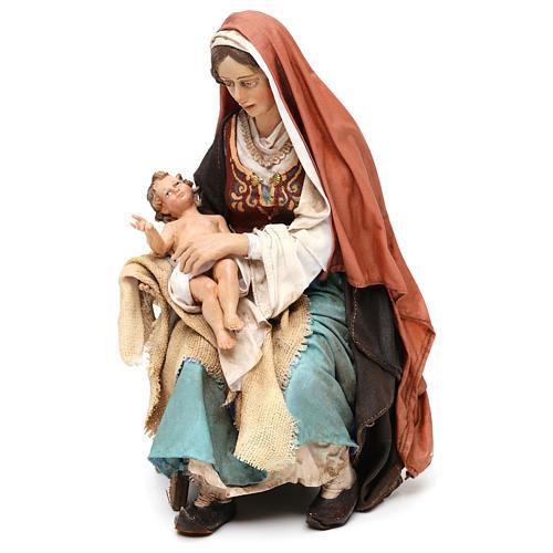 Nativity scene Mary with Baby Jesus, 30 cm by Angela Tripi 3