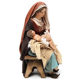 Madonna con il Bambinello 30 cm Tripi s4