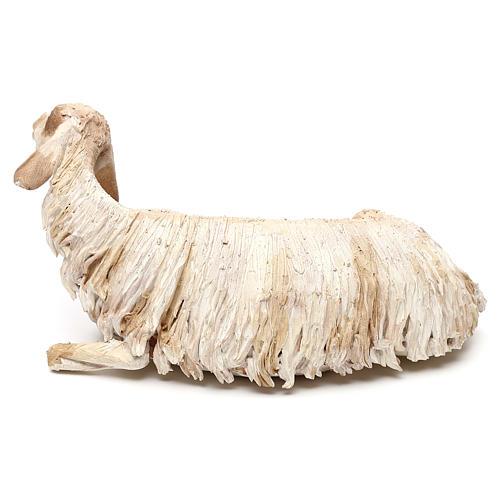 Mouton allongé pour crèche de 30 cm Angela Tripi 3