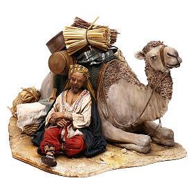 Nativity scene sleeping shepherd with camel, 18 cm by Angela Tripi s3