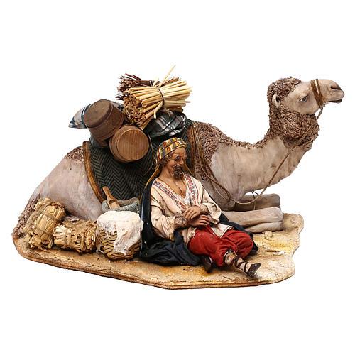 Nativity scene sleeping shepherd with camel, 18 cm by Angela Tripi 1