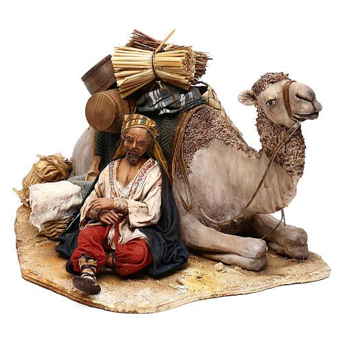 Nativity scene sleeping shepherd with camel, 18 cm by Angela Tripi 3