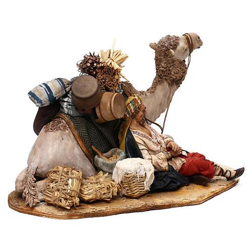 Nativity scene sleeping shepherd with camel, 18 cm by Angela Tripi 5