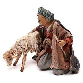 Nativity scene shepherd with goat, 13 cm by Angela Tripi s3