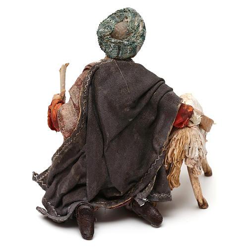 Nativity scene shepherd with goat, 13 cm by Angela Tripi 6
