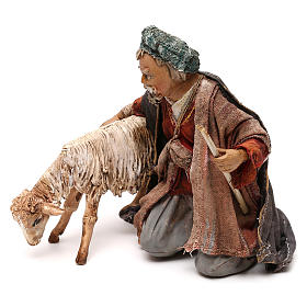 Pastor con ovejita 13 cm Angela Tripi s3