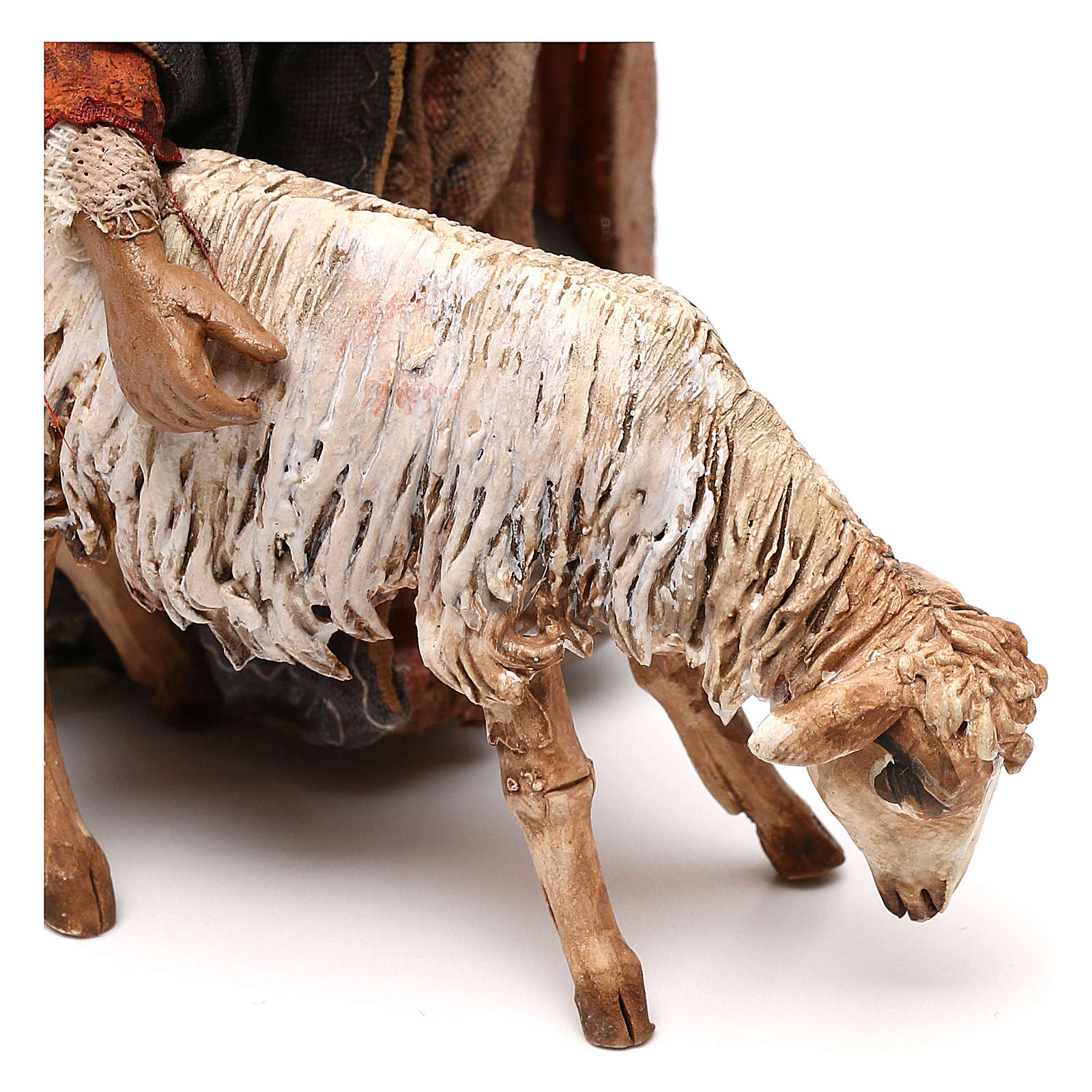 Berger avec mouton crèche 13 cm Tripi 4