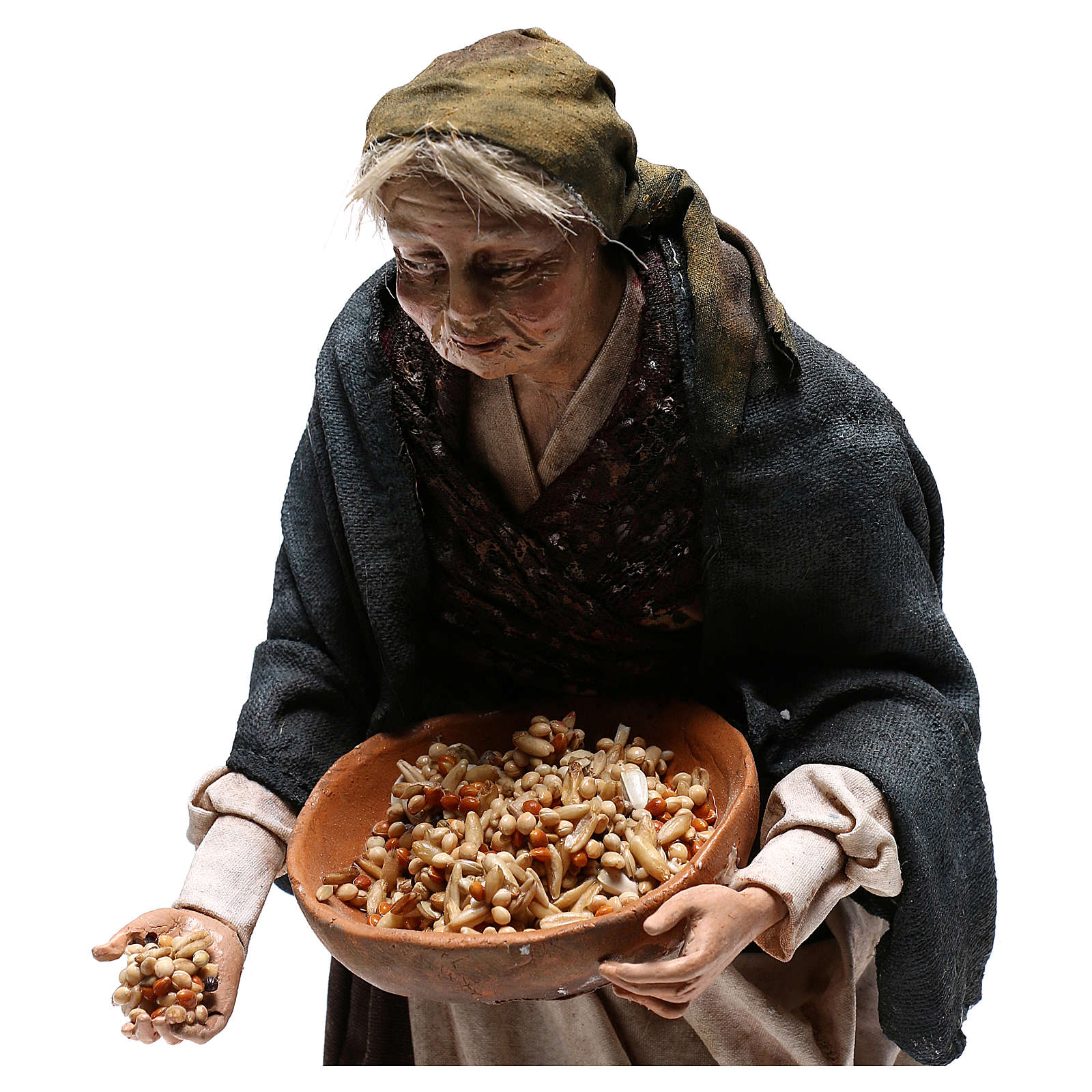 Old woman with seeds, 30 cm Angela Tripi Nativity Scene 4