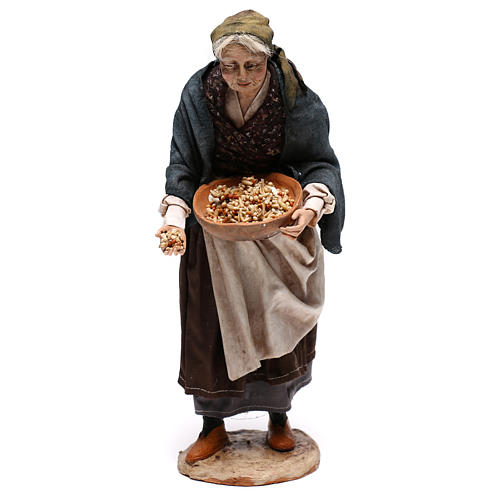 Old woman with seeds, 30 cm Angela Tripi Nativity Scene 1