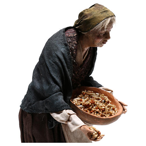 Old woman with seeds, 30 cm Angela Tripi Nativity Scene 2
