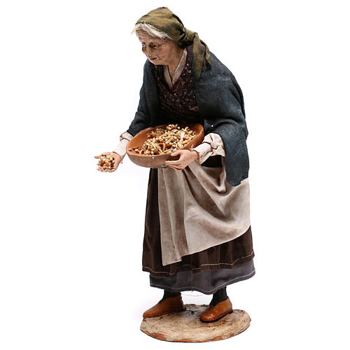Old woman with seeds, 30 cm Angela Tripi Nativity Scene 3