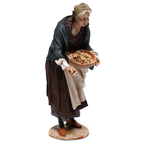 Old woman with seeds, 30 cm Angela Tripi Nativity Scene 5