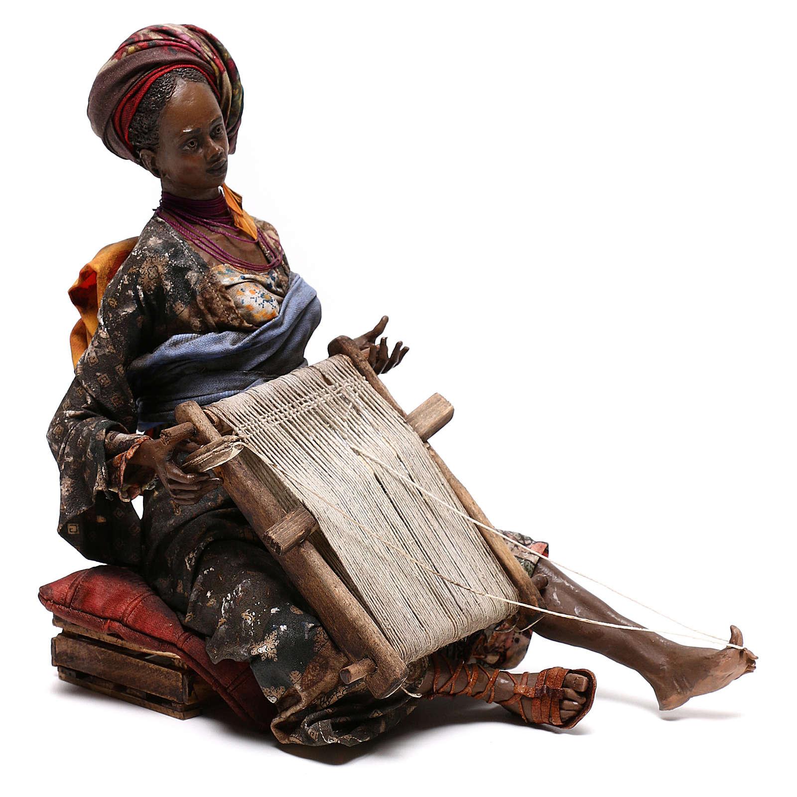 Weaver figurine, 30 cm Angela Tripi Nativity Scene 4
