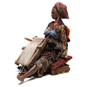 Weaver figurine, 30 cm Angela Tripi Nativity Scene s3