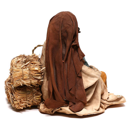 Woman with kid, 30 cm Angela Tripi Nativity Scene 7