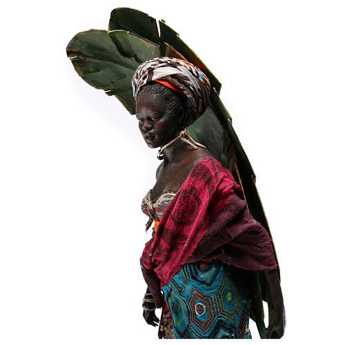 Mujer con hojas de plátano 30 cm belén Tripi 5
