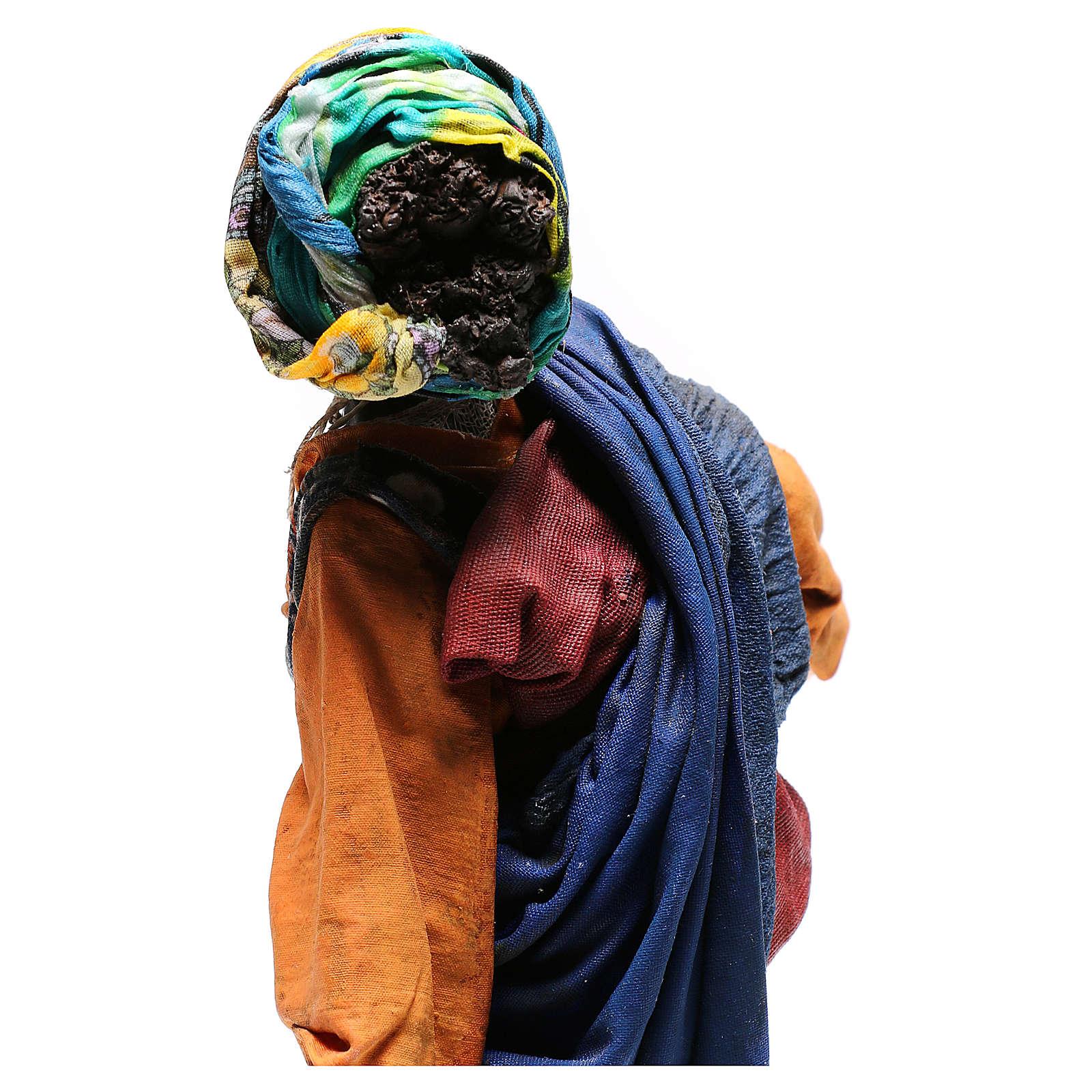 Woman with large bowl, 30 cm Angela Tripi Nativity Scene 4