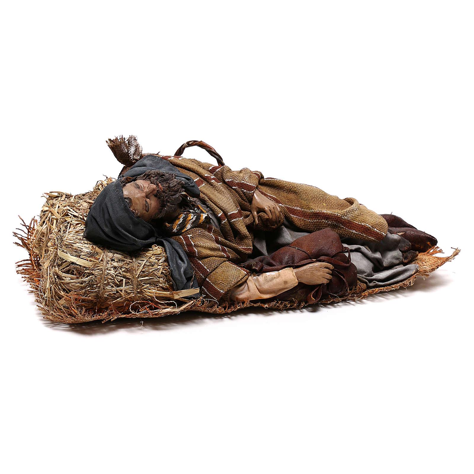 Sleeping shepherd, 30 cm Angela Tripi Nativity 4