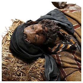Sleeping shepherd, 30 cm Angela Tripi Nativity s2