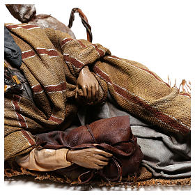 Sleeping shepherd, 30 cm Angela Tripi Nativity s4