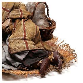 Sleeping shepherd, 30 cm Angela Tripi Nativity s6