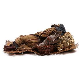 Sleeping shepherd, 30 cm Angela Tripi Nativity s10