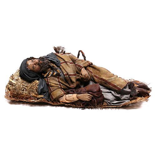 Sleeping shepherd, 30 cm Angela Tripi Nativity 1