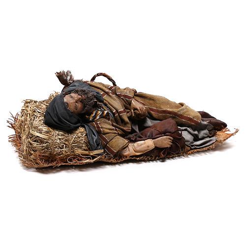 Sleeping shepherd, 30 cm Angela Tripi Nativity 5