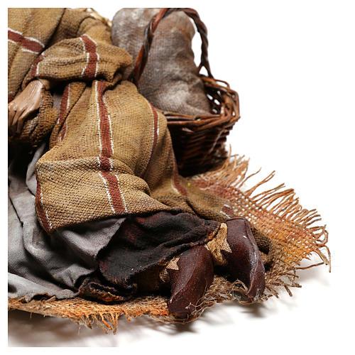 Sleeping shepherd, 30 cm Angela Tripi Nativity 6