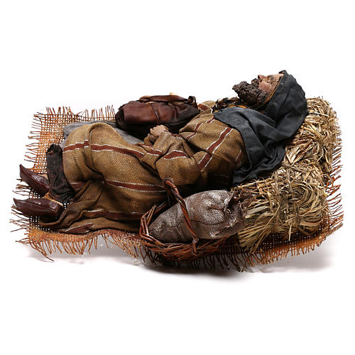 Sleeping shepherd, 30 cm Angela Tripi Nativity 7