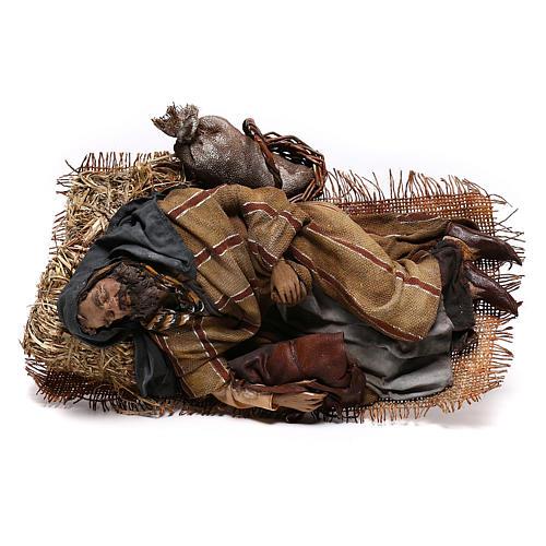 Sleeping shepherd, 30 cm Angela Tripi Nativity 8