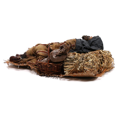Sleeping shepherd, 30 cm Angela Tripi Nativity 9