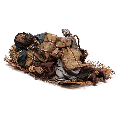 Benino le berger endormi crèche Tripi 30 cm 3