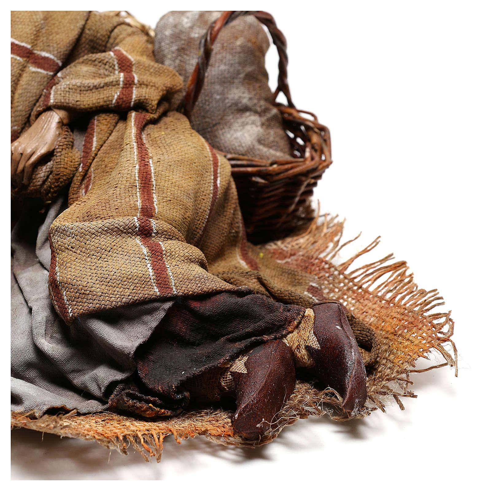 Benino 30 cm: pastore dormiente presepe Tripi 4