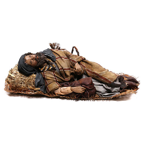 Benino 30 cm: pastore dormiente presepe Tripi 1