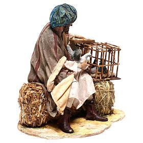 Man with bird cages, 30 cm Angela Tripi figurine s5