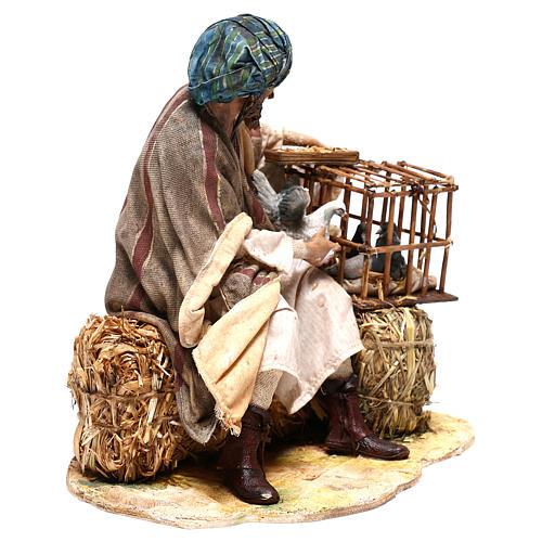 Man with bird cages, 30 cm Angela Tripi figurine 5