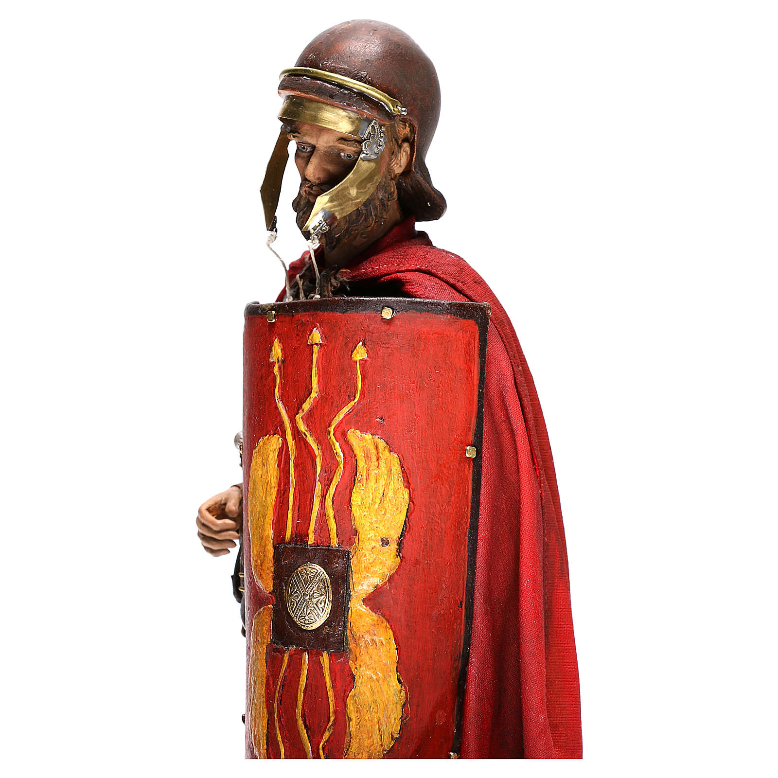 Standing Roman soldier, 30 cm Angela Tripi Nativity figurine 4