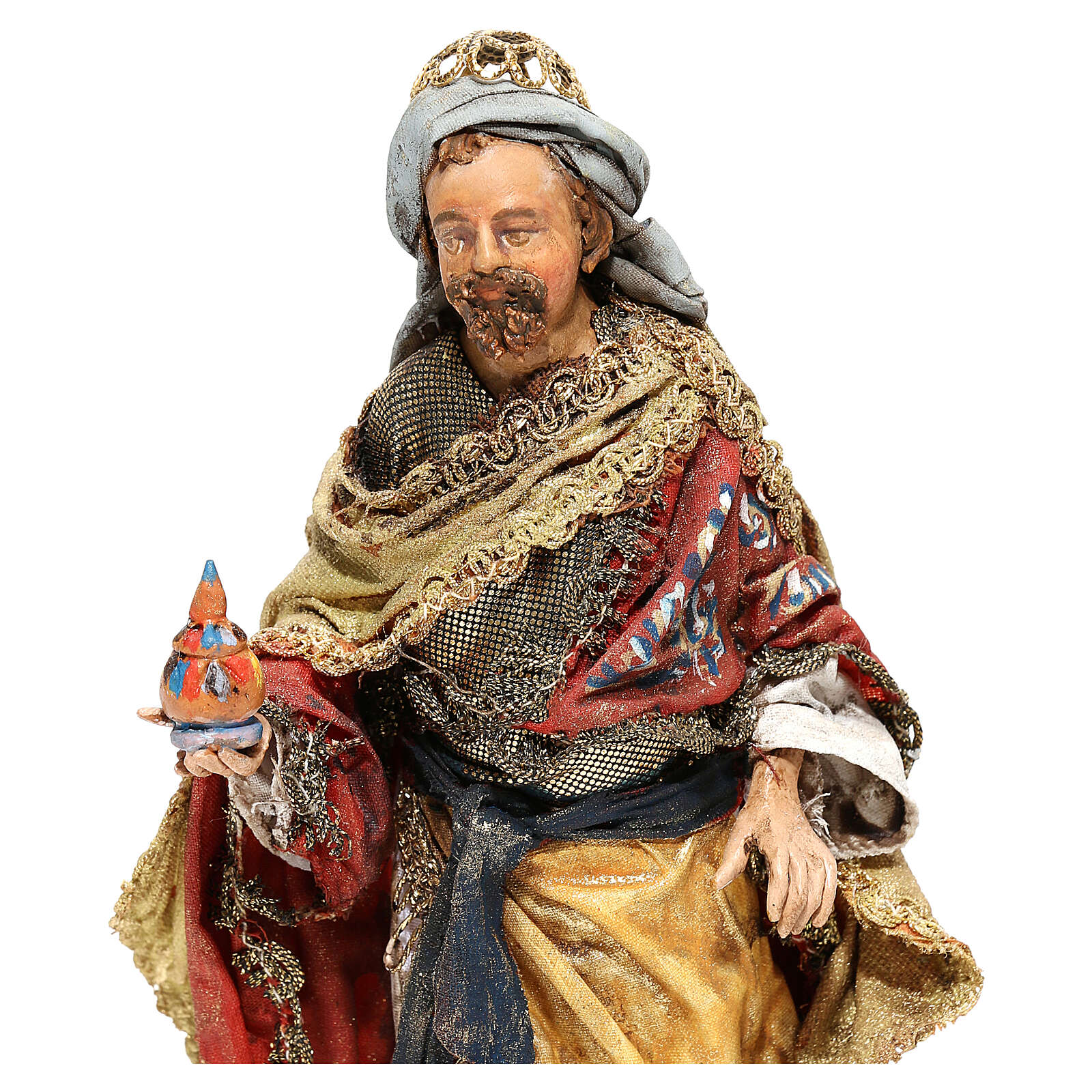 Roi Mage debout avec cadeau 13 cm Angela Tripi 4